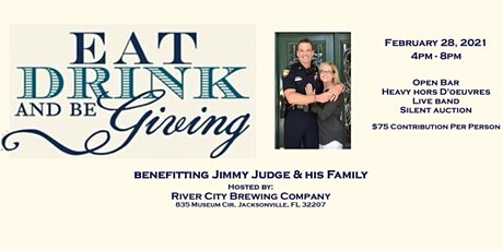 Eat, Drink & Be Giving Fundraiser for Jimmy Judge tickets