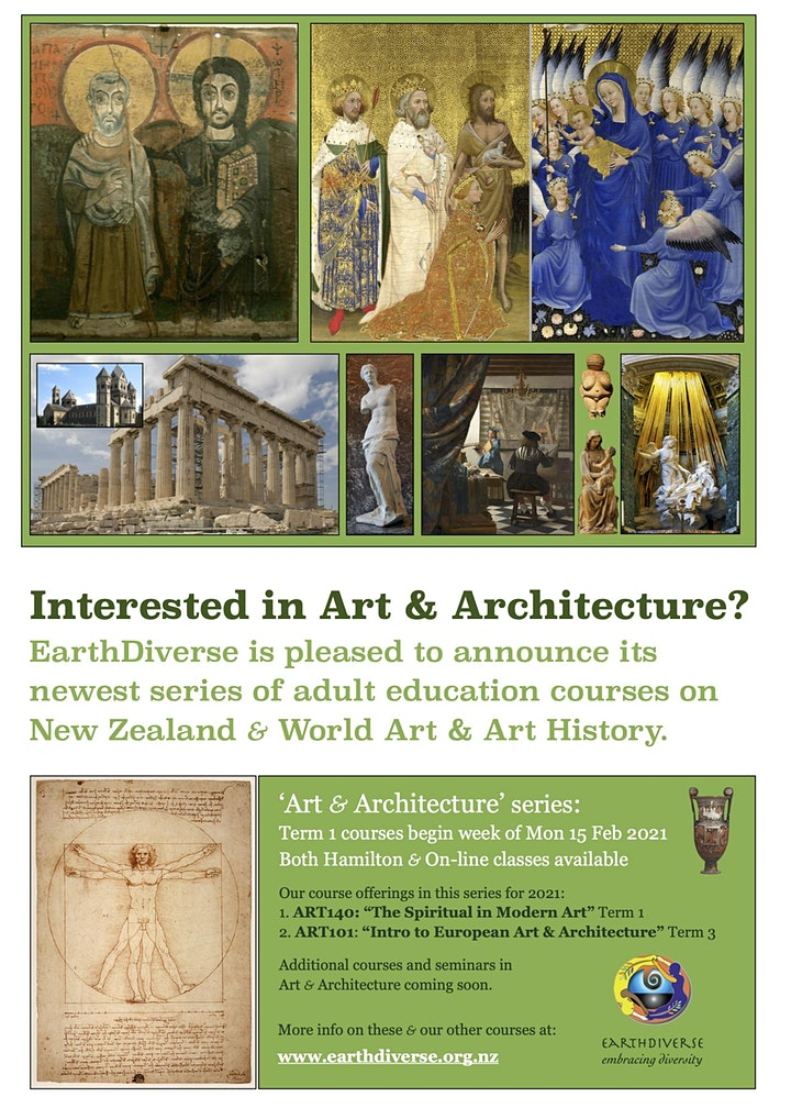 """""""The Spiritual in Modern Art"""", an 8-week course with EarthDiverse image"""