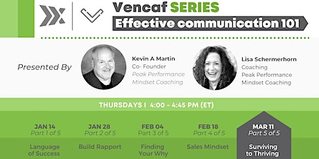 Vencaf SERIES: Effective Communication 101 (Part 5 of 5) tickets