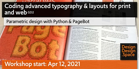 Coding advanced typography & layouts for print and web (GD2) tickets