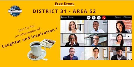 Area52 - 2021 Humorous Speech Contest & International Speech Contest tickets