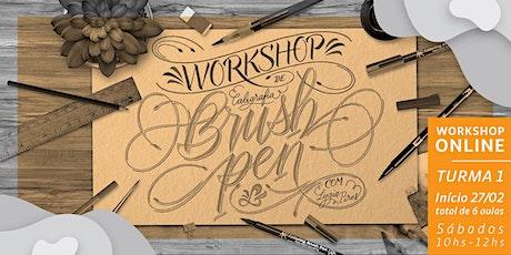 Curso Online de Caligrafia - Brush Pen e Letras Cursivas - Sábados ingressos