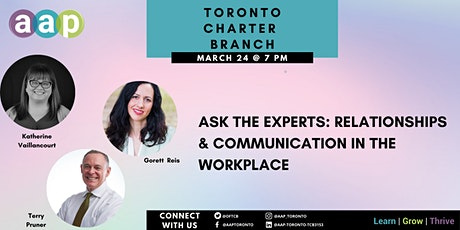 Ask The Experts: Relationships and Communication in the Workplace tickets