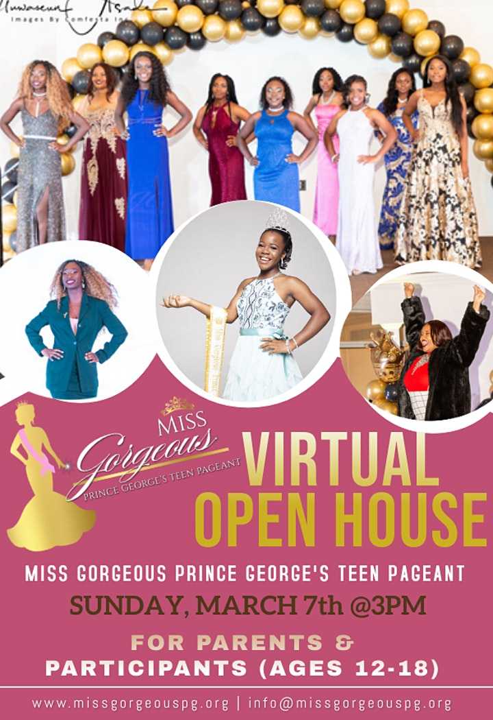 Miss Gorgeous Prince George's Teen Pageant Virtual Open House image