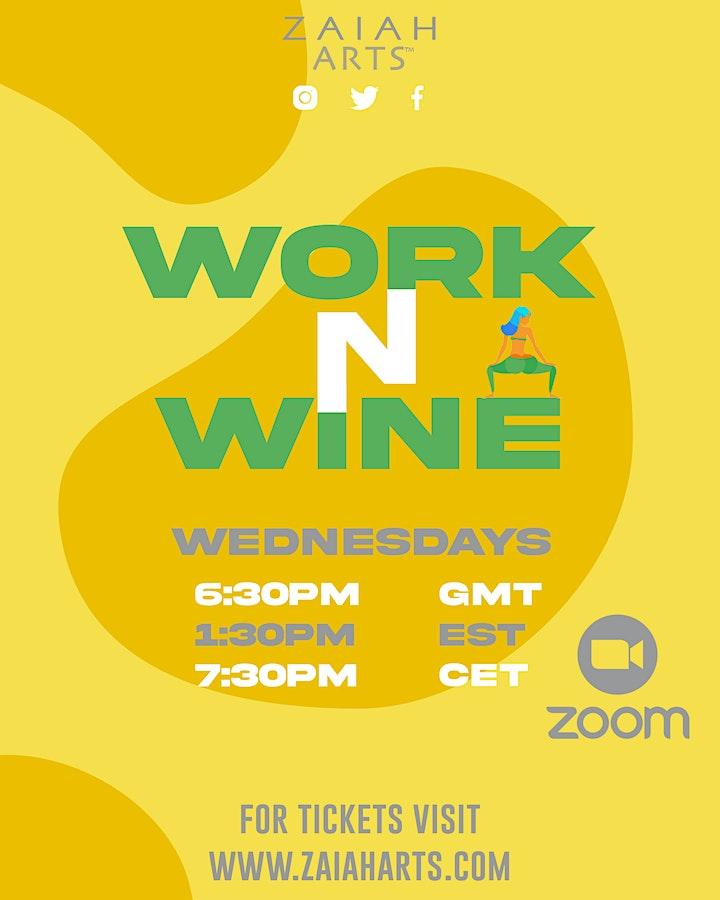 WORK N WINE! ONLINE SOCA FITNESS CLASS image