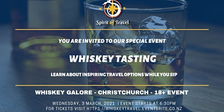Whiskey Tasting and Travel Information Night tickets