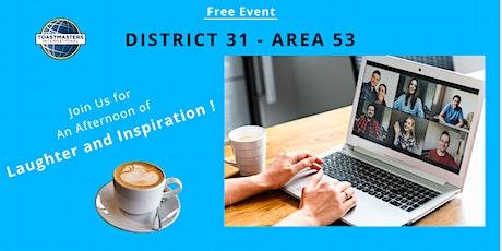 Area53 - 2021 Humorous Speech Contest & International Speech Contest tickets