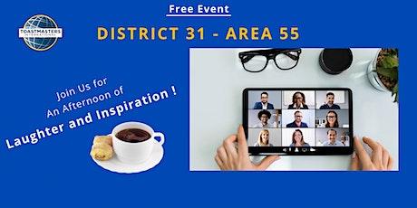 Area55 - 2021 Humorous Speech Contest & International Speech Contest tickets