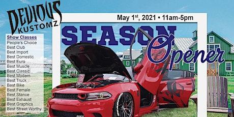 Devious kustomz season opener car show tickets