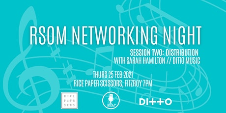 RSOM Networking Night #2 2021 // Distribution with Ditto Music tickets