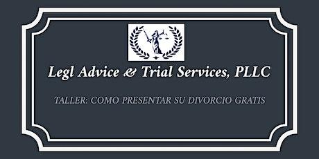 TALLER: COMO PRESENTAR SU DIVORCIO GRATIS EN LA FLORIDA! boletos