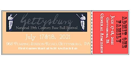 2021 Gettysburg National 19th Century Base Ball Festival tickets