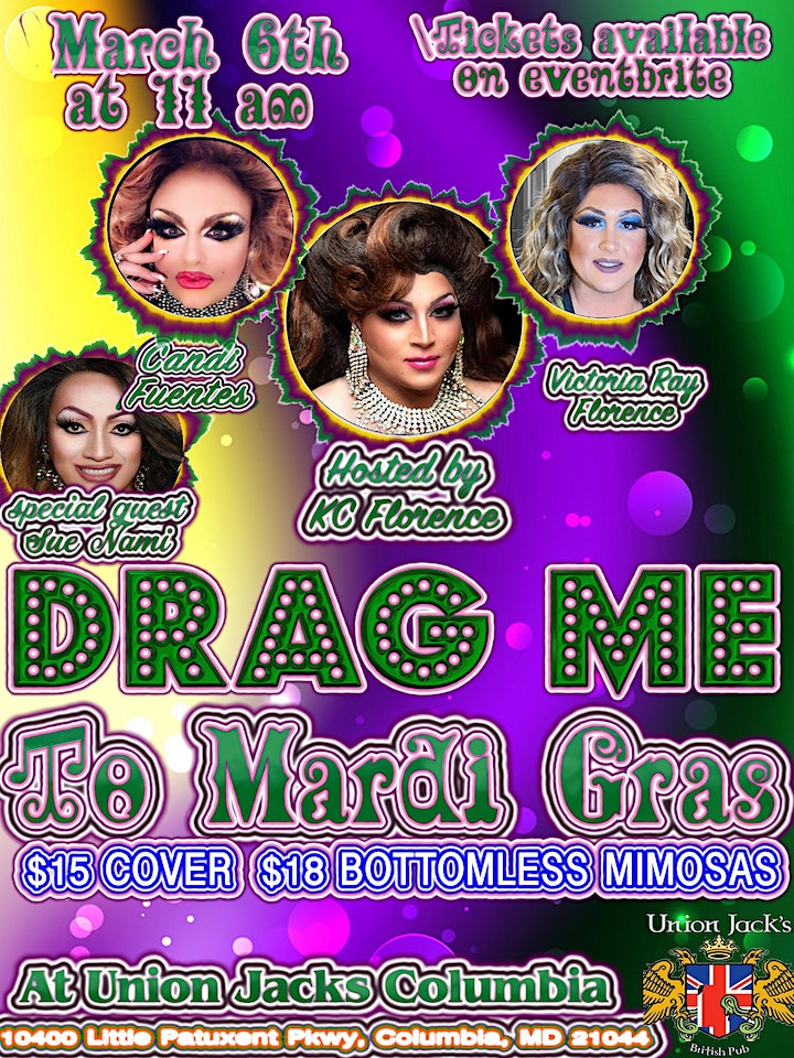 Drag me to Mardi Gras! @ Union Jacks Columbia image