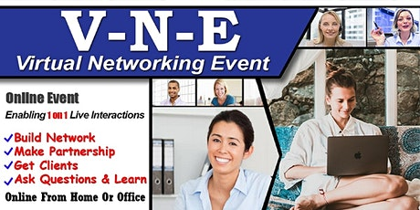 NewYork's Exclusive Virtual Business & Startup Networking- Do 1 on 1 chat tickets