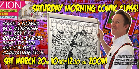 Comic Book Workshop with Kev F! tickets
