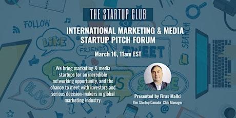 International Marketing & Media Startup Pitch Forum tickets