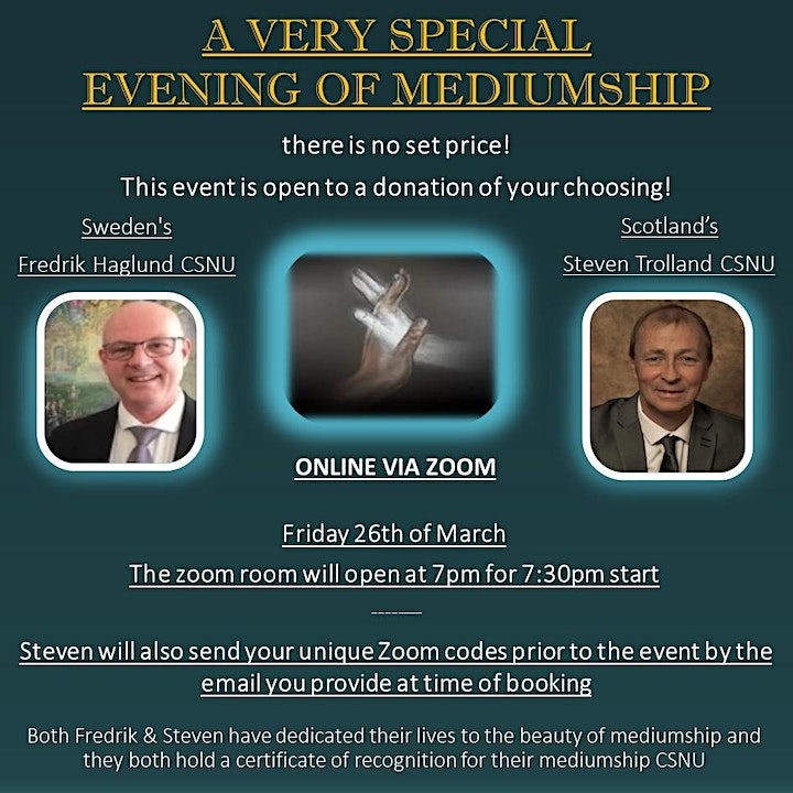 An Evening Of Mediumship With  Steven Trolland & Fredrik Hugland image