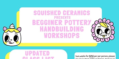 March 2 week TUESDAY NIGHT Hand Building Pottery Class 2ND + 9th tickets