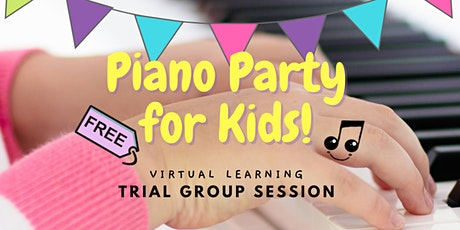 FREE Virtual Piano Party for Kids (Ages 7-11): Intro to group piano lessons tickets