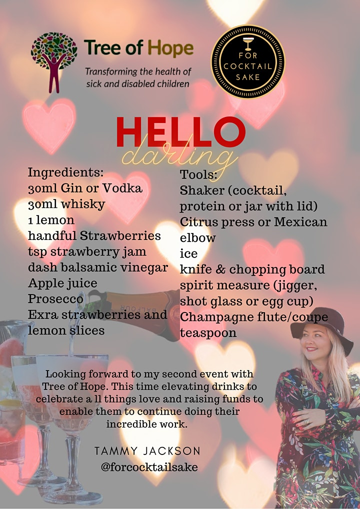 Valentines Fundraising Event - Cocktail Making Masterclass image
