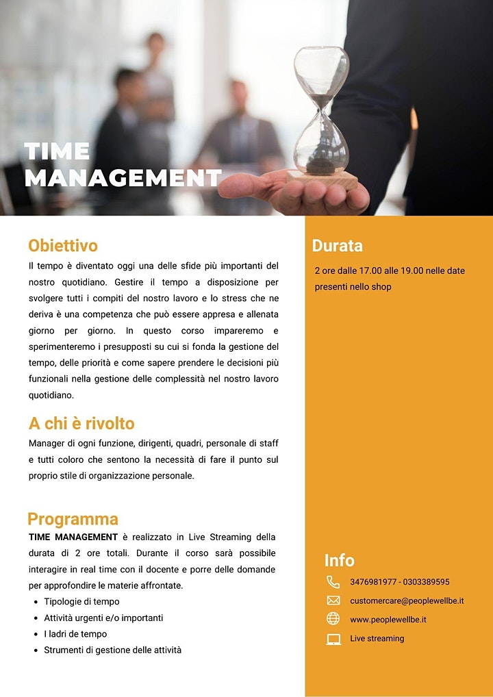 Immagine TIME MANAGEMENT