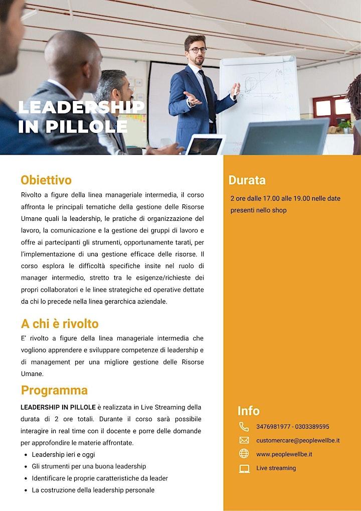Immagine LEADERSHIP IN PILLOLE