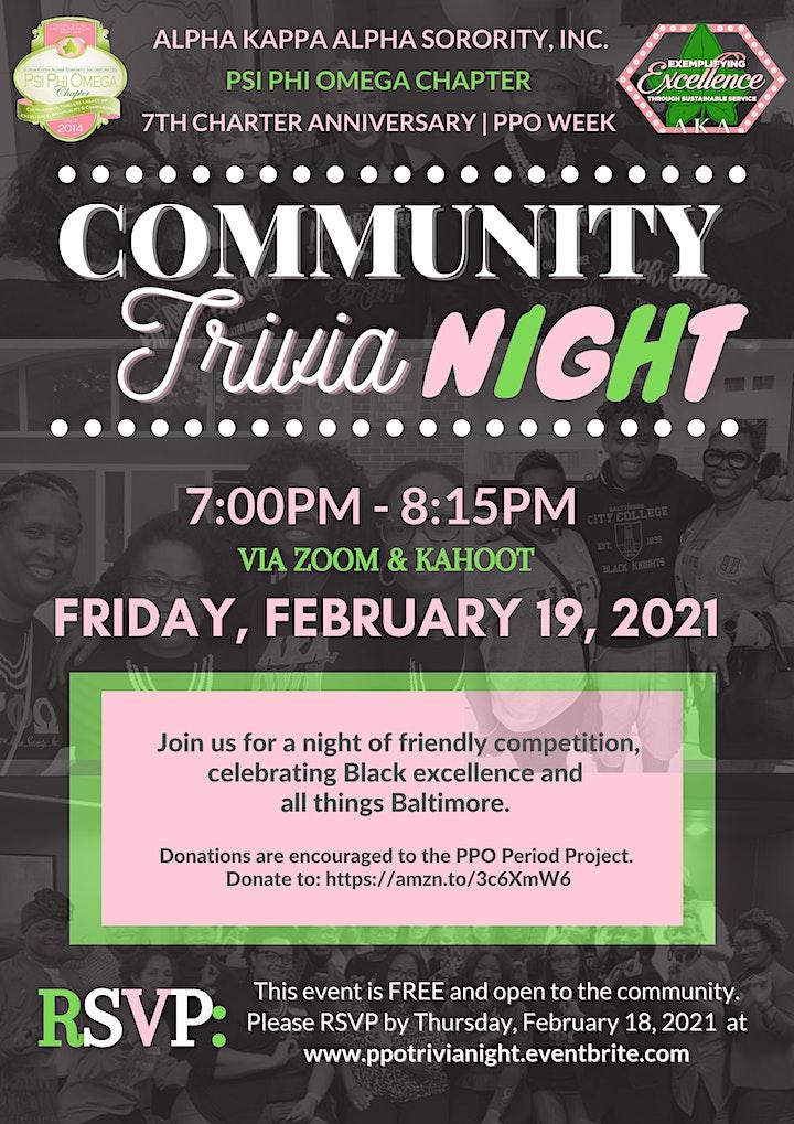 PPO Community Trivia Night image