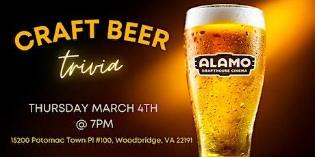 Craft Beer Trivia at Alamo Drafthouse Woodbridge tickets