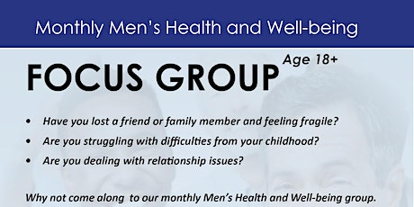 Monthly Men's Health and Well-being Focus Group tickets