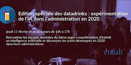 Edition spéciale des Datadrinks : expérimentations de l'IA billets