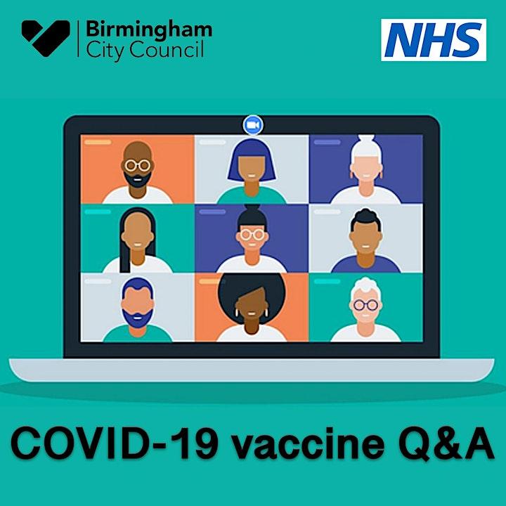 Central Birmingham  - COVID Vaccine Webinar/Q&A image