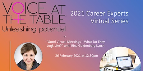 Career Experts: Good Virtual Meetings: What Do They Look Like? tickets