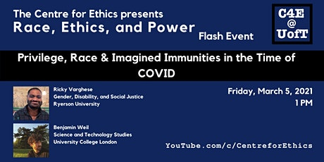 Ricky Varghese & Benjamin Weil, Imagined Immunities in the Time of COVID tickets