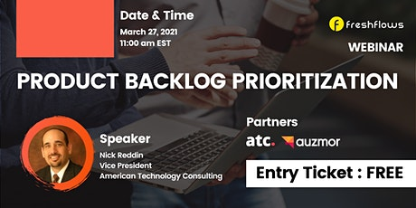 Webinar: Product Backlog Prioritization tickets