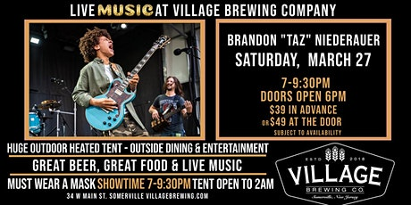 "Brandon ""TAZ"" Niederauer @Village Brewing Company! tickets"