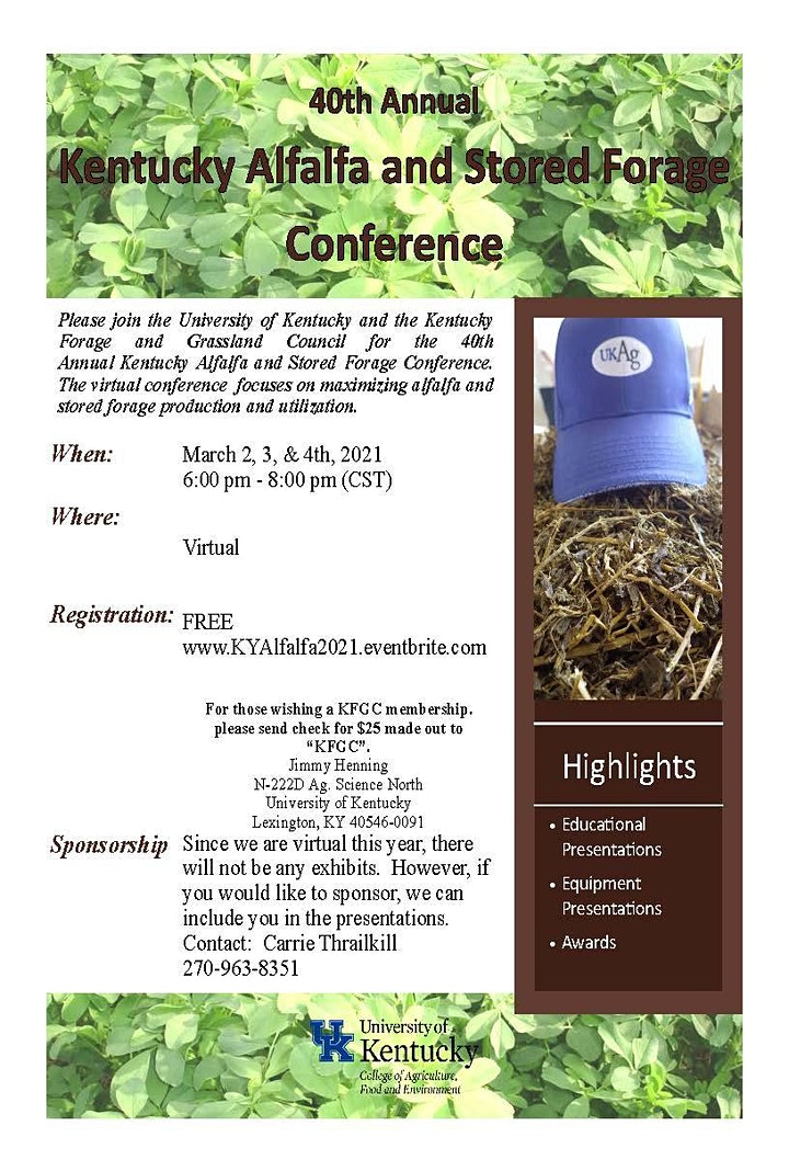 40th Annual Kentucky Alfalfa and Stored Forage Conference image