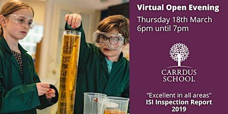 Carrdus School Virtual Open Evening tickets