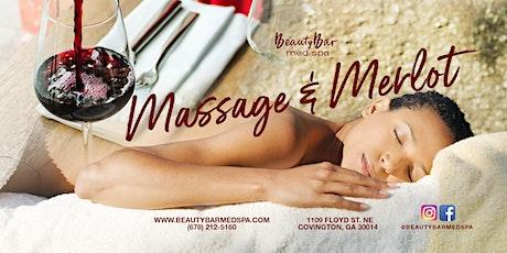 Massage and Merlot tickets