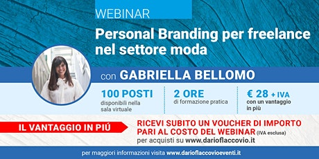 WEBINAR : Personal Branding per freelance nel settore moda biglietti