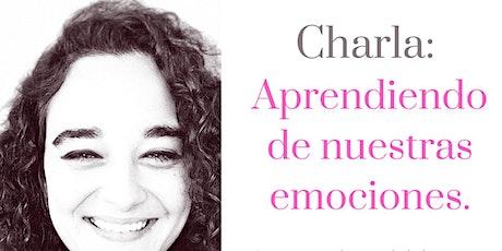 Charla: Aprendiendo de nuestras emociones entradas