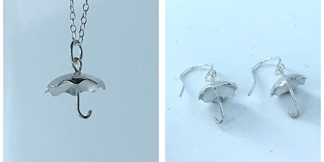 Make a Silver Umbrella Charm Pendant and Earring Set tickets