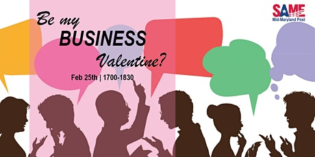 Will you be my Business Valentine?  Virtual Networking with SAME MID-MD! tickets