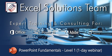 PowerPoint Level 1 - Fundamentals (1-Day Webinar) tickets