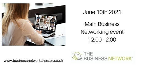 10th June  2021 Online Business Networking event + optional seminar tickets
