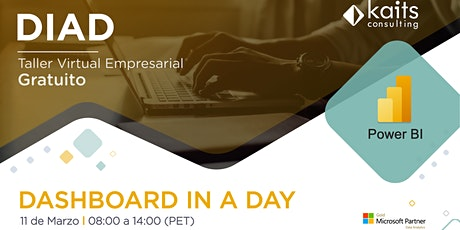 Dashboard in a Day with Power BI por Kaits Consulting Group - 11/03/21 tickets