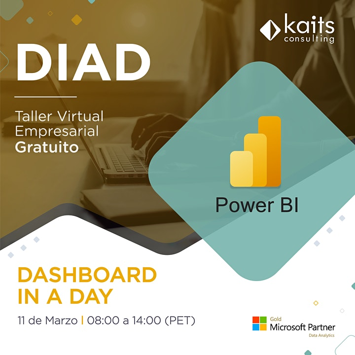 Imagen de Dashboard in a Day with Power BI por Kaits Consulting Group - 11/03/21