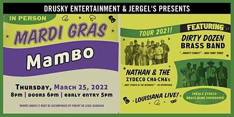 Mardi Gras Mambo: Dirty Dozen Brass Band & Nathan & the Zydeco Cha Chas tickets