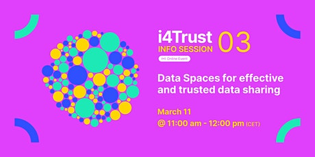 i4Trust Info-Sessions - Edition 3 tickets