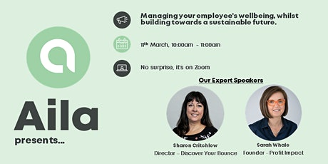 Managing employee wellbeing, whilst building towards a sustainable future tickets