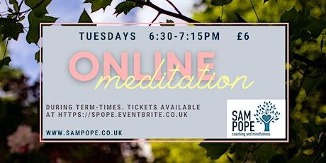 Online mindfulness meditation group tickets